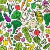 Nahtloses Muster des Gemüses Stockfotos