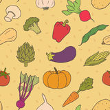 Nahtloses Muster des Gemüses Lizenzfreies Stockbild