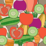 Nahtloses Muster des Gemüses Stockbild