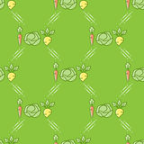 Nahtloses Muster des Gemüses in einer Linie Kunstart vektor abbildung