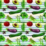 Nahtloses Muster des Gemüses Wiederholbares Muster mit gesundem Lebensmittel Stockfoto