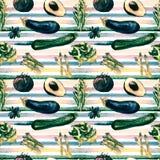 Nahtloses Muster des Gemüses Wiederholbares Muster mit gesundem Lebensmittel Stockbild