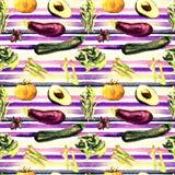 Nahtloses Muster des Gemüses Wiederholbares Muster mit gesundem Lebensmittel Lizenzfreie Stockfotografie