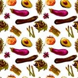 Nahtloses Muster des Gemüses Wiederholbares Muster mit gesundem Lebensmittel Lizenzfreie Stockfotos