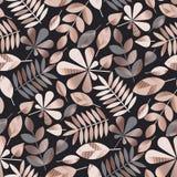 Nahtloses Muster des geometrischen eleganten Herbstlaubs Stock Abbildung
