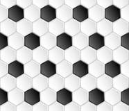 Nahtloses Muster des geometrischen Fußballvektors Stockbilder