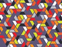 Nahtloses Muster des geometrischen Gitters Stockbilder
