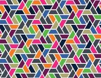 Nahtloses Muster des geometrischen Gitters Stockbild