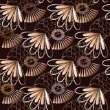 Nahtloses Muster des geometrischen griechischen Vektors Abstraktes Blumen-backgro lizenzfreie abbildung