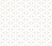 Nahtloses Muster des geometrischen Kubikgitters Stockfotografie