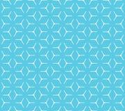 Nahtloses Muster des geometrischen Kubikgitters Stockfoto
