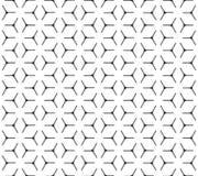 Nahtloses Muster des geometrischen Kubikgitters Lizenzfreie Stockfotografie