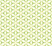 Nahtloses Muster des geometrischen Kubikgitters Stockfotos