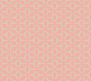Nahtloses Muster des geometrischen Kubikgitters Lizenzfreies Stockfoto