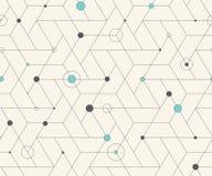 Nahtloses Muster des geometrischen Kubikgitters Stockbild