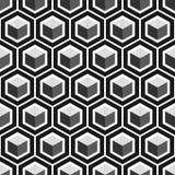 Nahtloses Muster des geometrischen Würfels Modegrafikdesign Auch im corel abgehobenen Betrag Niedrige Illustration für Anzeigen!  Stockbild