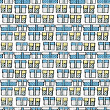 Nahtloses Muster des Geschenkkastens Lizenzfreies Stockbild