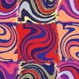 Nahtloses Muster des gestreiften und gewellten Regenbogens des Schmutzes Lizenzfreie Stockbilder