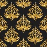 Nahtloses Muster des goldenen Funkelns Stockfoto