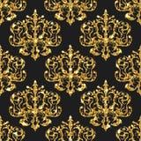 Nahtloses Muster des goldenen Funkelns Stockbild