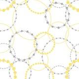 Nahtloses Muster des Goldes und der Silberketten stock abbildung