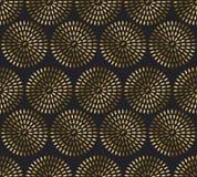 Nahtloses Muster des Goldreises festliches Metall gemasert Lizenzfreies Stockfoto