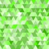 Nahtloses Muster des grünen Vektors mit Dreiecken Stockfotografie