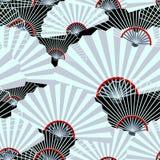Nahtloses Muster des grauen Fans vektor abbildung