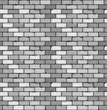Nahtloses Muster des grauen Ziegelsteines mit Sprüngen und Unregelmäßigkeiten Stockfotografie
