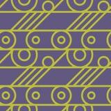 Nahtloses Muster des grundlegenden Radmechanismus Stockbild