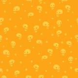 Nahtloses Muster des Halloween-Parteischädel-Hintergrundes Stockbilder