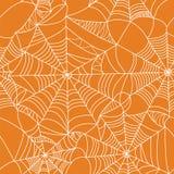Nahtloses Muster des Halloween-Spinnennetzes Lizenzfreie Stockfotografie