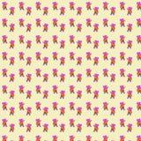 Nahtloses Muster des Hand gezeichneten lustigen rosa Flusspferds, welches die Gitarre spielt Stockfoto