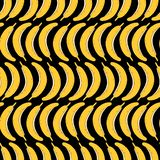 Nahtloses Muster des Handabgehobenen betrages der Banane Auch im corel abgehobenen Betrag lizenzfreie abbildung