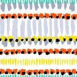 Nahtloses Muster des handgemalten Vektors des Schmutzes Stockfoto