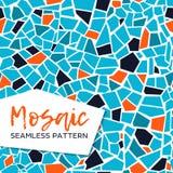 Nahtloses Muster des hellen abstrakten Mosaiks Es kann für Leistung der Planungsarbeit notwendig sein Endlose Beschaffenheit Kera stock abbildung