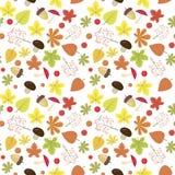 Nahtloses Muster des hellen Herbstes Natürliche Farben Stockfoto