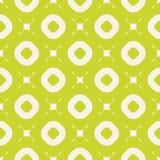 Nahtloses Muster des hellen Sommervektors mit Kreisen und Quadraten Lindgr?ne Farbe lizenzfreie abbildung