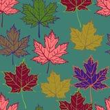 Nahtloses Muster des Herbstblattes Stockfotos