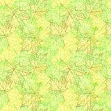 Nahtloses Muster des Herbstblattes Stockfoto