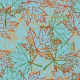 Nahtloses Muster des Herbstblattes Lizenzfreie Stockbilder