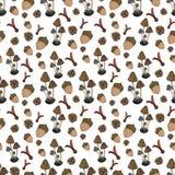 Nahtloses Muster des Herbstes Stockfoto