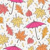 Nahtloses Muster des Herbstes vektor Stockfoto