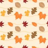 Nahtloses Muster 09 des Herbstlaubs vektor abbildung