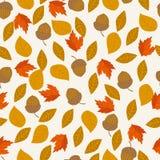 Nahtloses Muster des Herbstvektors Stockfotos