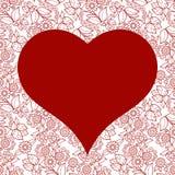 Nahtloses Muster des Herzens für Valentinsgrußtageskarte Lizenzfreie Stockbilder
