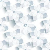 Nahtloses Muster des Hintergrundes mit stilisierter Kirschblüte Lizenzfreies Stockbild