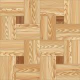 Nahtloses Muster des Holzfußbodenparketts Auch im corel abgehobenen Betrag Stockfoto