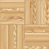 Nahtloses Muster des Holzfußbodenparketts Auch im corel abgehobenen Betrag Lizenzfreies Stockfoto