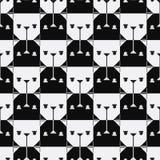 Nahtloses Muster des Hundekopfes. Lizenzfreie Stockfotografie